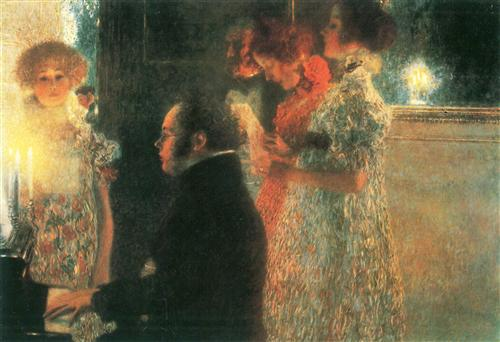 """Schubert at the Piano"" II (1899) - Gustav Klimt"