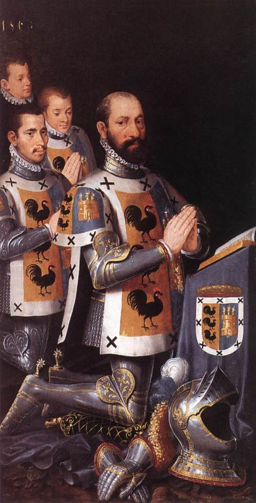 Pieter Pourbus - Portrait of Jan Lopez Gallo and His Three Sons (1568)