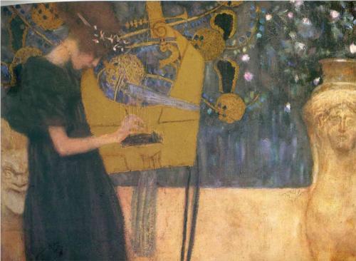 """Gustav Klimt's """"Music"""""""