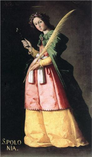 """Saint Apollonia"" - Francisco de Zurbarán"