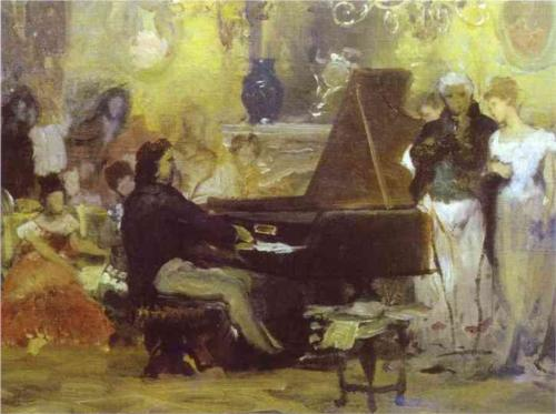"Henryk Siemiradzki - ""Chopin Performing in the Guest Hall- of Anton Radziville in Berlin In 1829"" (1887)"