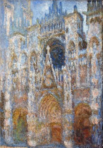 "Claude Monet - ""Rouen Cathedral, Magic in Blue"""