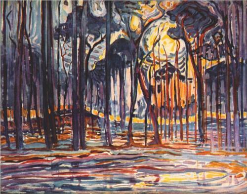 """Piet Mondrian - """"Woods Near Oele"""" (1908)"""