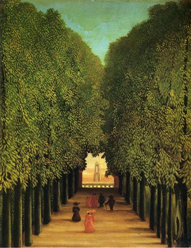 "Henri Rousseau ""Alleyway in the Park of Saint Cloud"" (1908)"