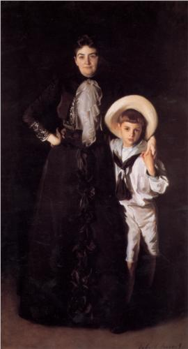 "JohnSinger Sargent - ""Mrs Edward L. Davis and Her Son Llivingston"" (1890)"