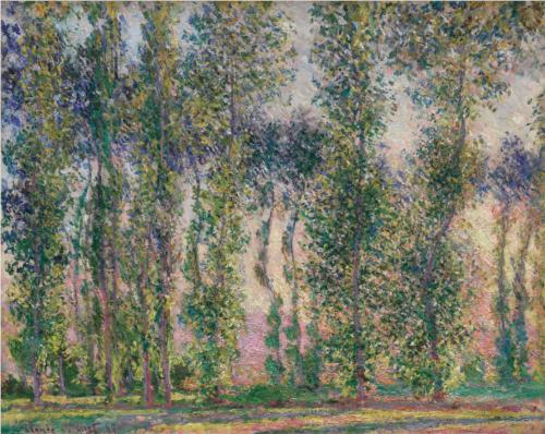 "Claude Monet ""Poplars at Giverny"""