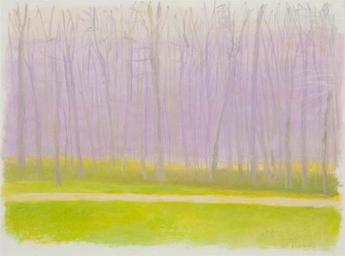 """Wolf Kahn """"Subtle Pink"""" (2000)"""