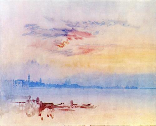 "William Turner -  ""Venice Looking East from the Guidecca, Sunrise"" (1819)"