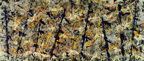 "Jackson Pollock -  ""Blue Poles (Number 11)"""