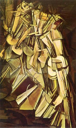 "Marcel Duchamp ""Nude Descending a Staircase, No.2"" (1912)"