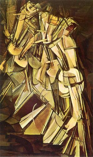 "Marcel Duchamp ""Nude Descending a Staircase, No.2"" (1912)"