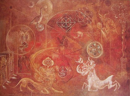 "Leonora Carrington - ""The Burning of Giordano Bruno"" (1964)"