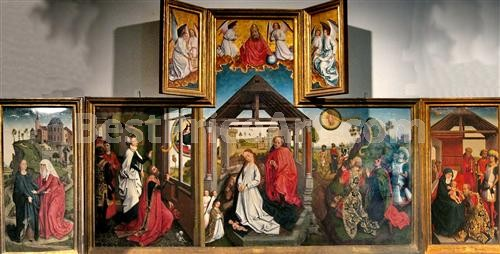 "Rogier van der Weyden - ""Polyptych with the Nativity"""