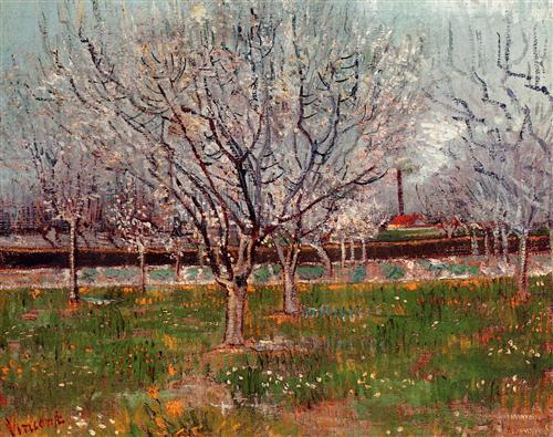 "Vincent van Gogh - ""Orchard in Blossom (Plum Trees)"""