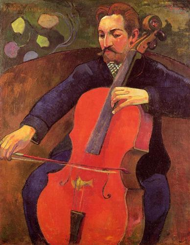 "Paul Gauguin - ""The Cellist (Portrait of Upaupa Scheklud)"""