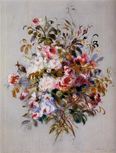 """A Bouquet of Roses"" (1879) - Pierre-Auguste Renoir"