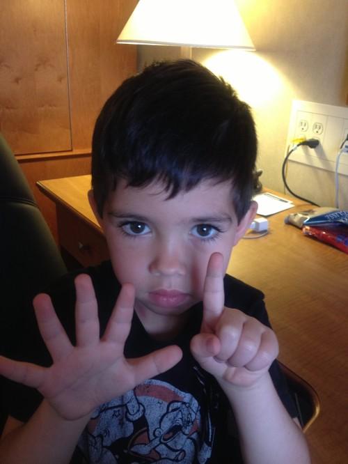 Aidan wants 6 Power Rangers (November, 2014)