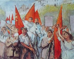 "Alexandru Ciucurencu - ""May Day in Freedom"" (1958)"