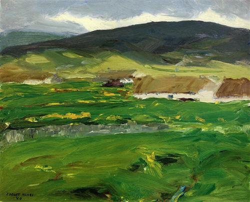 """O'Malley Home (Achill Island, County Mayo, Ireland)"" (1913) - Robert Henri"
