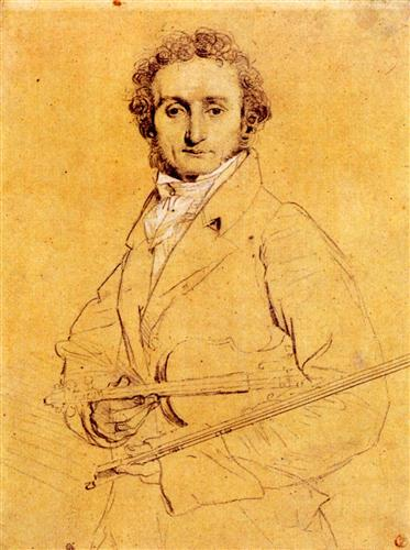 "Jean Auguste Dominique Ingres - ""Niccolo Paganini"" (c.1819)"