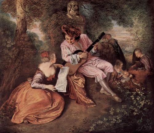 """The Scale of Love"" - Antoine Watteau"