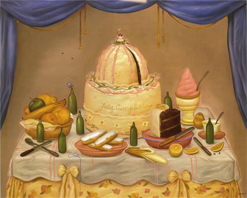 """Happy Birthday""- Fernando Botero"
