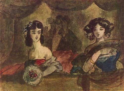 """""""La loge de l'opéra""""-  Constantin Guys"""
