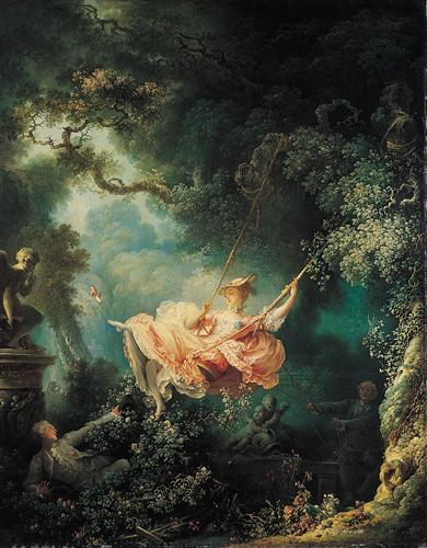 """The Swing"" (""Les hasards heureux de l'escarpolette"") -  Jean Honoré Fragonard"