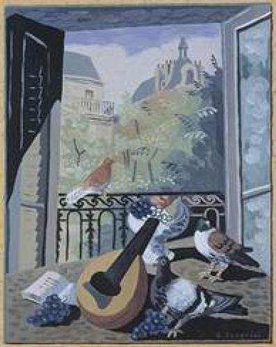 """Window with Doves"" - Gino Severini"
