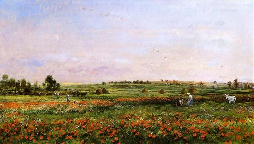 """Fields in the Month of June"" - Charles-François Daubigny"