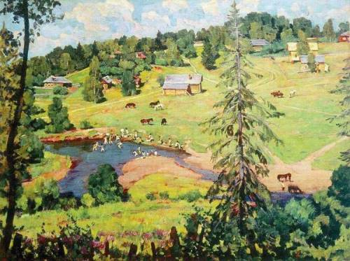 """July Bathing"" - Konstantin Yuon"