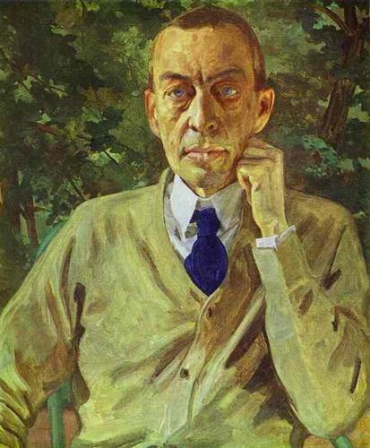 """Portrait of the Composer Sergei Rachmaninov"" -  Konstantin Somov"