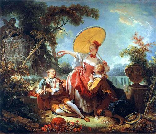 """The Musical Contest"" -  Jean-Honoré Fragonard"