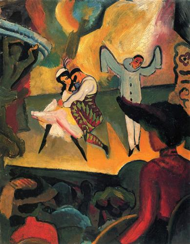 """Ballets Russes"" - August Macke"
