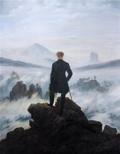 """The Wanderer above the Sea of Fog"" - Caspar David Friedrich"
