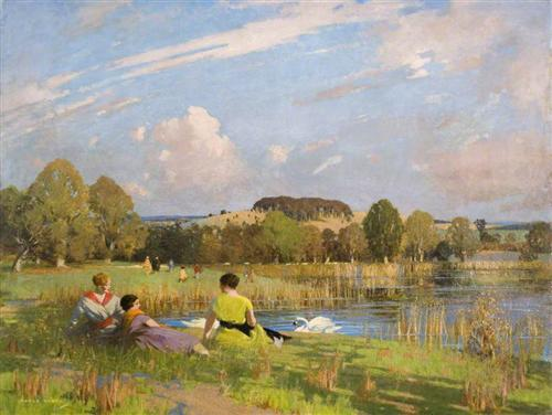 """A September Day"" - George Henry"