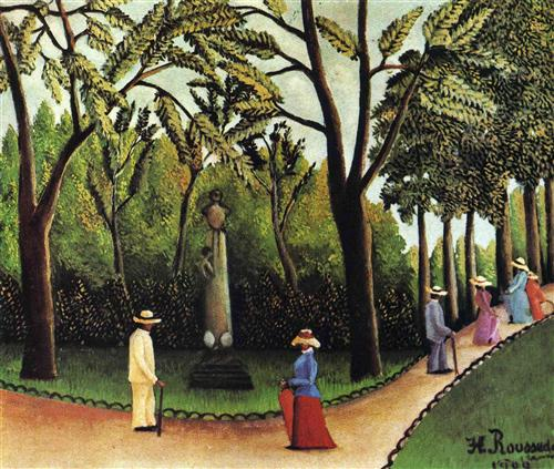 """The Monument to Chopin in the Luxembourg Gardens"" - Henri Rousseau"
